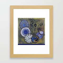 The Time is Always Now (or 11:11) Framed Art Print
