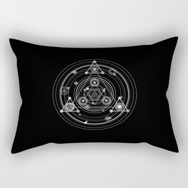 Dark and mysterious wicca style sacred geometry Rectangular Pillow