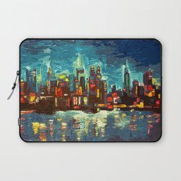 Abstract NYC Skyline Laptop Sleeve