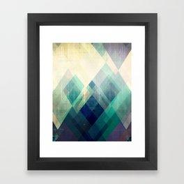 Mountains print, Abstract print, geometric wall art, abstract mountain, minimalist art, modern art, Framed Art Print