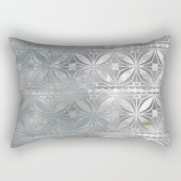 Silver glitter pattern on mother of pearl Rectangular Pillow