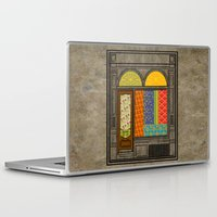 mandie manzano Laptop & iPad Skins featuring Shop windows by Megs stuff...