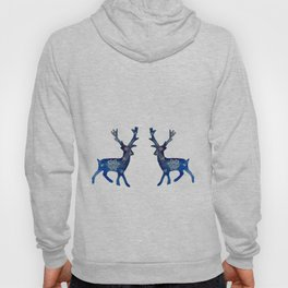 Winter Deer Snowflakes Hoody