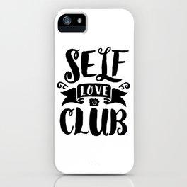 Self Love Club iPhone Case