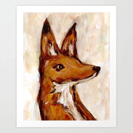 A Fox Named Horatio Art Print