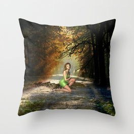 Forest Sprite Throw Pillow