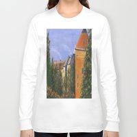 prague Long Sleeve T-shirts featuring Prague Castle by Vivid Perceptions