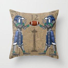 Football Hawk Pharoah Throw Pillow