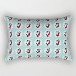 Minty Bubble Heart vol. 2 Rectangular Pillow