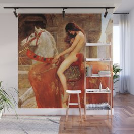 1897 Classical Masterpiece 'Lady Godiva' by John Collier Wall Mural