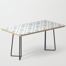 Red & Blue Mute Lattice Coffee Table