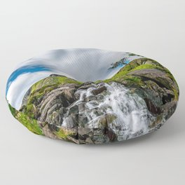 Cwm Idwal Rapids Snowdonia Floor Pillow