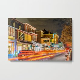 The Electricity of State Street Metal Print
