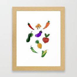 Vegetable Framed Art Print