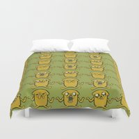 jake Duvet Covers featuring JAKE by SuperPills
