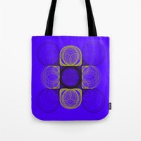 lee pace Tote Bags featuring spirals pace by Gaspart