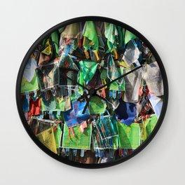 A lot of cloth shawls Wall Clock