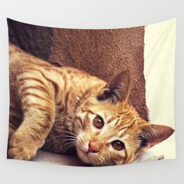 Cat roux Wall Tapestry