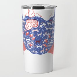 Animals in Beard Travel Mug