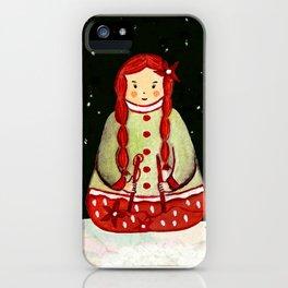 Winter Magic Girl iPhone Case