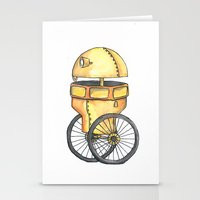robot Stationery Cards featuring Robot by Michelle Krasny