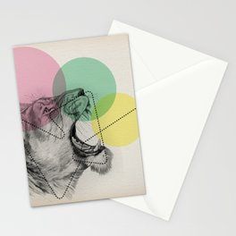 lioness line Stationery Cards