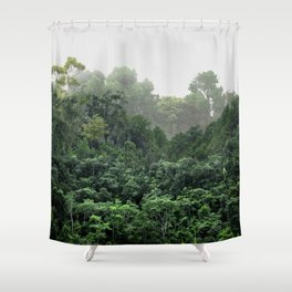 Tropical Foggy Forest Shower Curtain