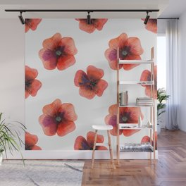 Meadow Red Poppies Wall Mural