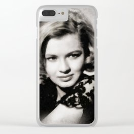 Angie Dickinson, Vintage Actress Clear iPhone Case