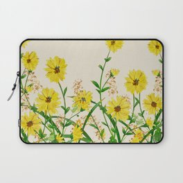 Yellow Wildflowers Laptop Sleeve