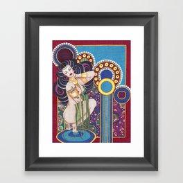African Klimt Framed Art Print