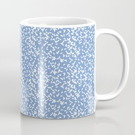 Leaves on blue background Coffee Mug