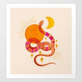 Abstraction_SUN_MOON_SNAKE_Minimalism_001 Art Print