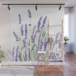 lavender watercolor horizontal Wall Mural