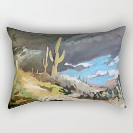 Sonoran Desert Storm Rectangular Pillow