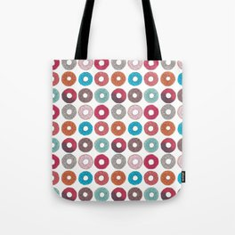 Colourful, illustrated, glazed, sprinkle Donut pattern Tote Bag