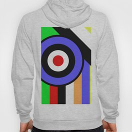 Bold Geometry - Abstract, Geometric, Retro Art Hoody