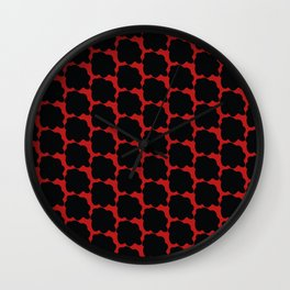 Red with black spots Wall Clock