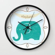 Fun at the Zoo: Elephant Wall Clock