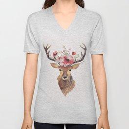Bohemian Deer Unisex V-Neck