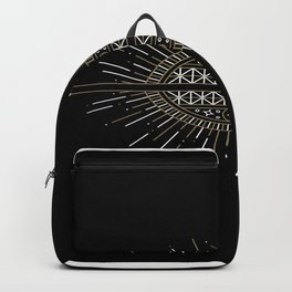 White and Gold Sphere  Backpack