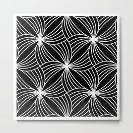 BLACK STORM, BLACK AND WHITE Metal Print