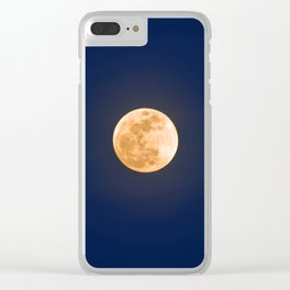 """""""January Blue Moon"""" with poem: Any Mysteries Clear iPhone Case"""