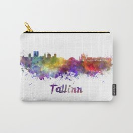 Tallinn skyline in watercolor Carry-All Pouch