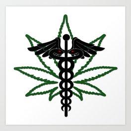 Medical Marijuana Insignia Art Print