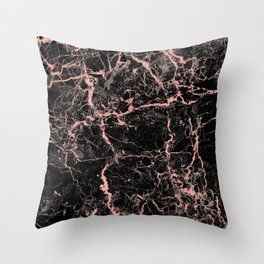 Marble Rose Gold - Someone Throw Pillow