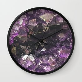 Deep Amethyst Wall Clock