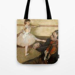 "Edgar Degas ""The Dance Lesson"" Tote Bag"
