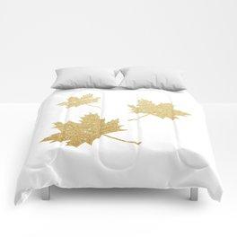 Falling Leaves | Gold Glitter Comforters