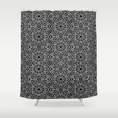 Black and white mystical Kaleidoscope 5010 Shower Curtain